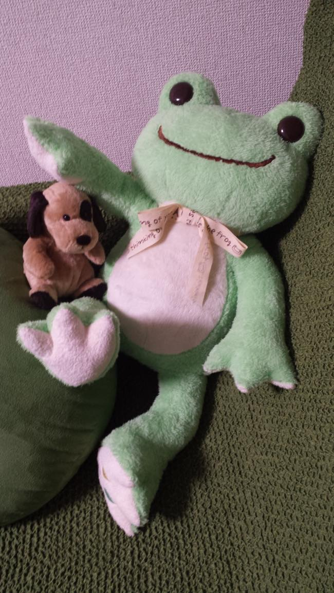 カエルのぬいぐるみ画像)